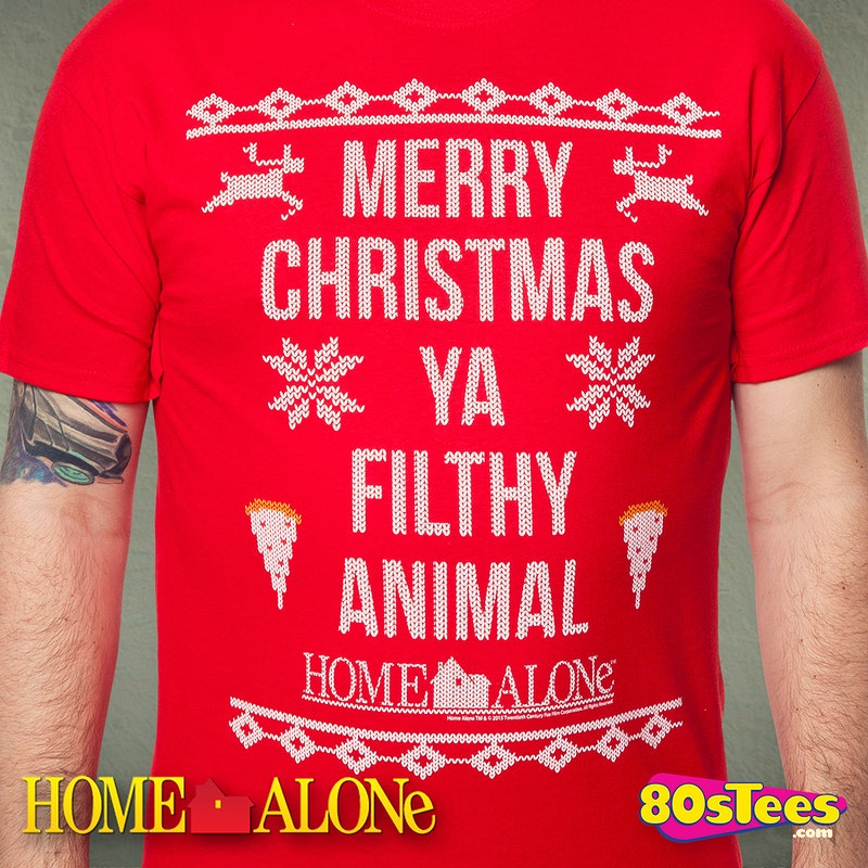 Home Alone Filthy Animal Christmas T-Shirt: Home Alone