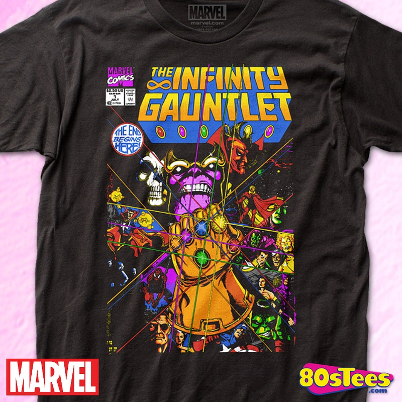 best cheap timeless design novel style Infinity Gauntlet Thanos T-Shirt