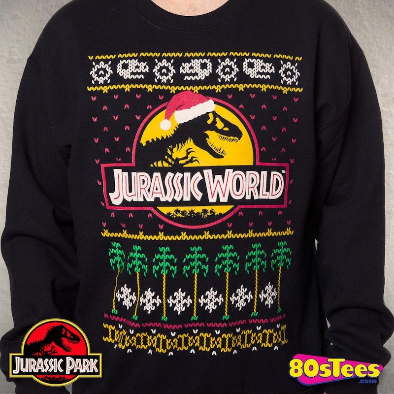 Jurassic World Christmas Sweater Jurassic World Mens Sweatshirt