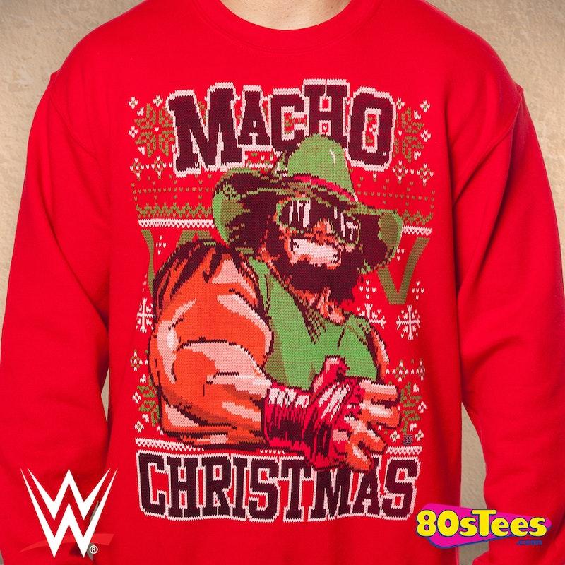 Macho Man Ugly Christmas Sweater