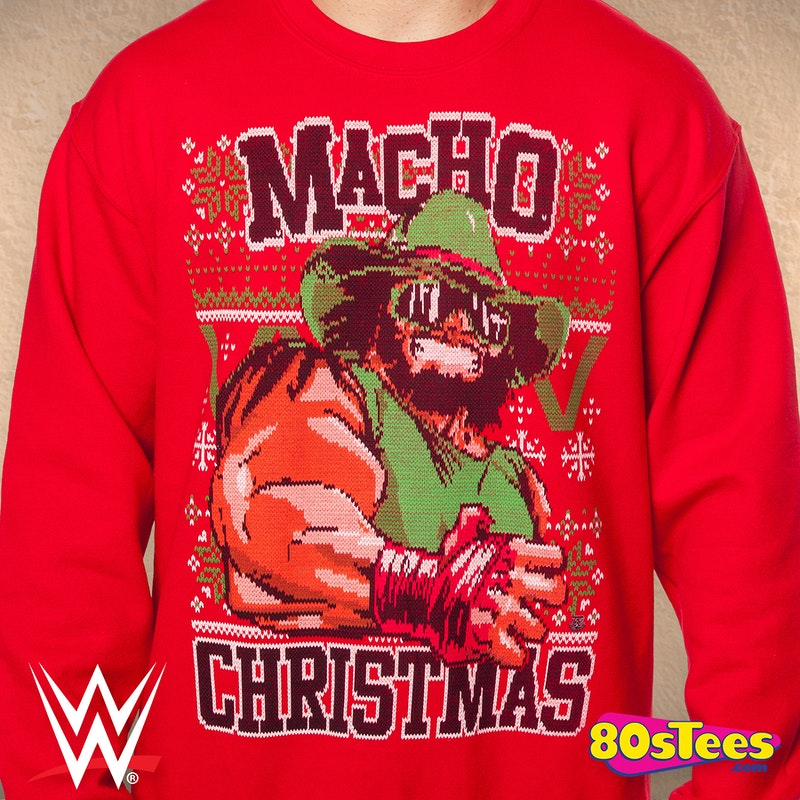 Macho Man Ugly Christmas Sweater