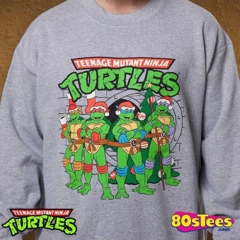 Teenage Mutant Ninja Turtles Sewer Faux Ugly Christmas Sweater