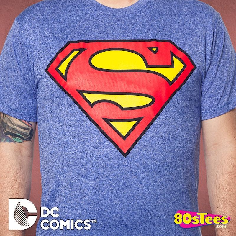 Performance Superman Logo T Shirt Superman Mens T Shirt