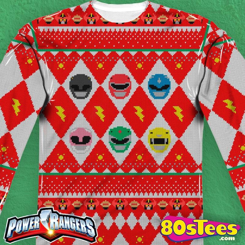 Power Rangers Christmas Sweater: Power Rangers Mens Long Sleeve Shirt