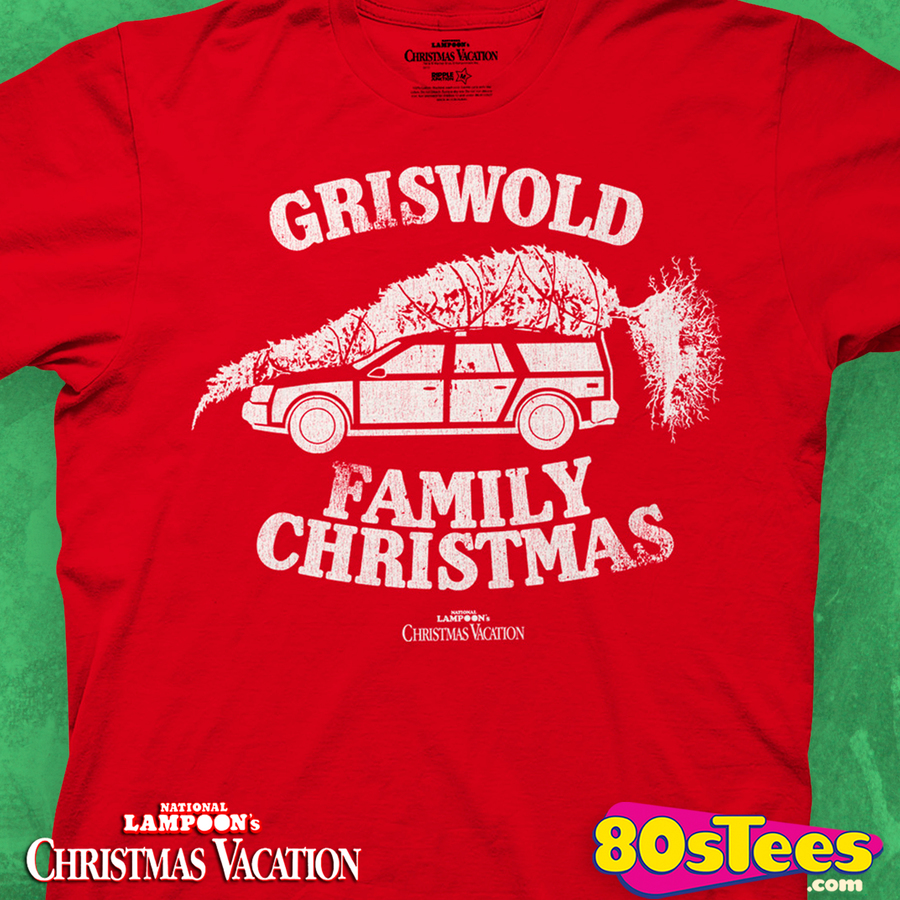Red Griswold Family Christmas T-Shirt: Christmas Vacation Mens T-Shirt
