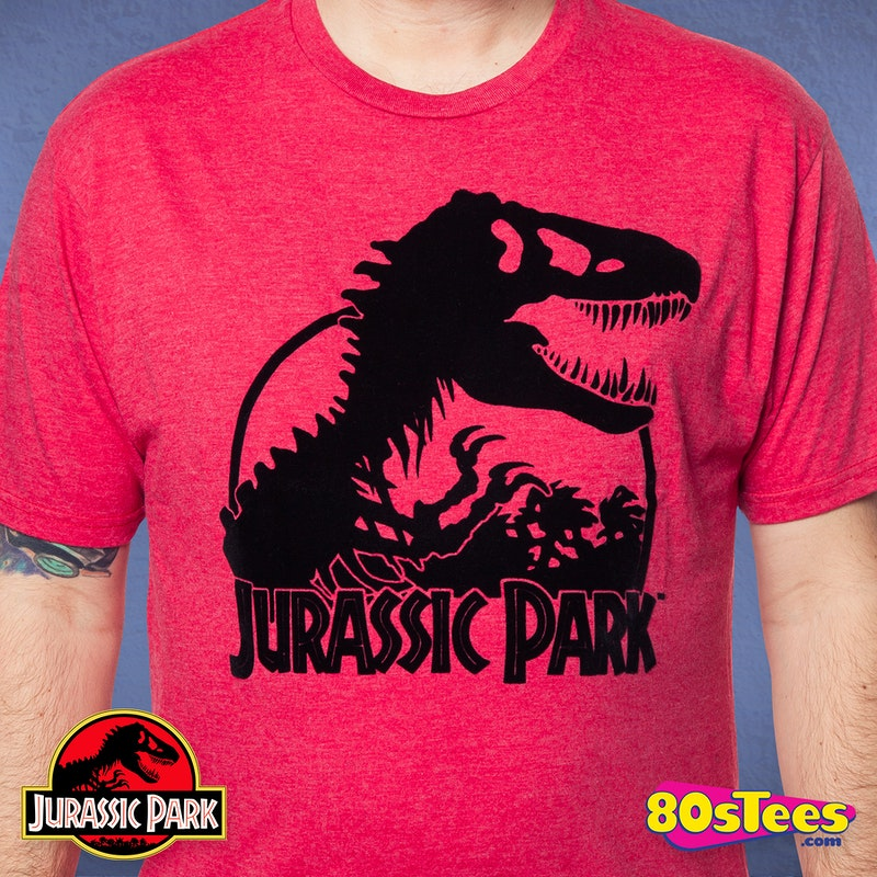 b9941283 Red Jurassic Park T-Shirt: Jurassic Park Mens T-Shirt