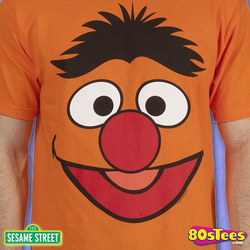Sesame Street Ernie Face T-Shirt: Great for Sesame Street ...  Sesame