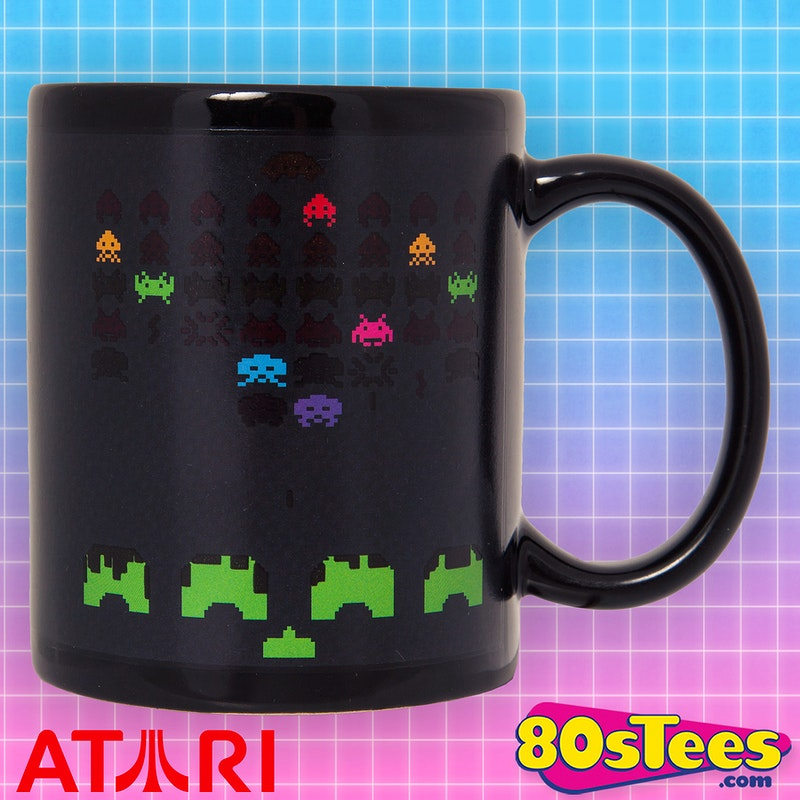Space Invaders Heat Changing Coffee Mug: Video Games: Atari