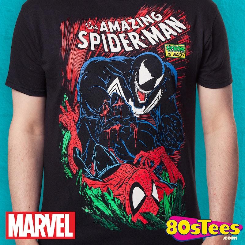 13cd92300253e5 Spider-Man & Venom Shirt: Super Heroes Marvel Comics SpiderMan T-shirt