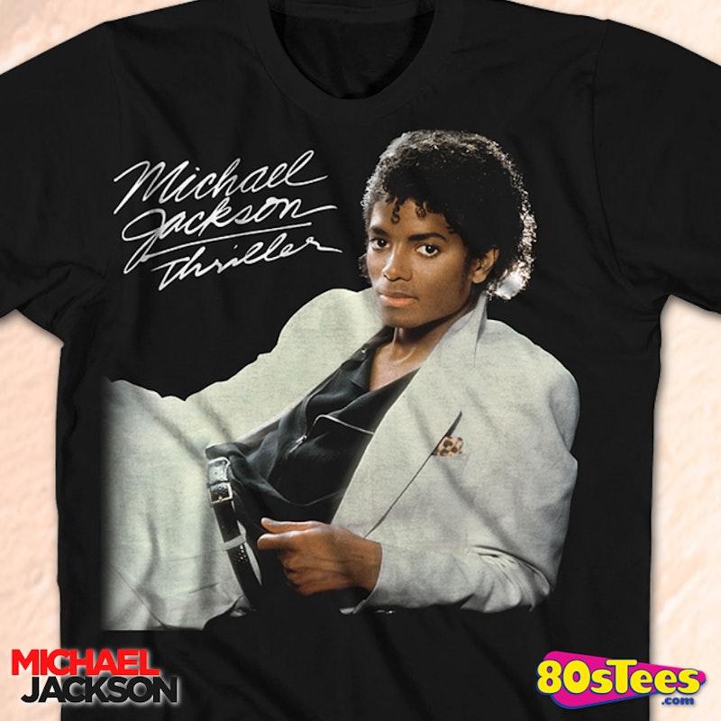 Thriller Cover Michael Jackson T-Shirt: Michael Jackson ...