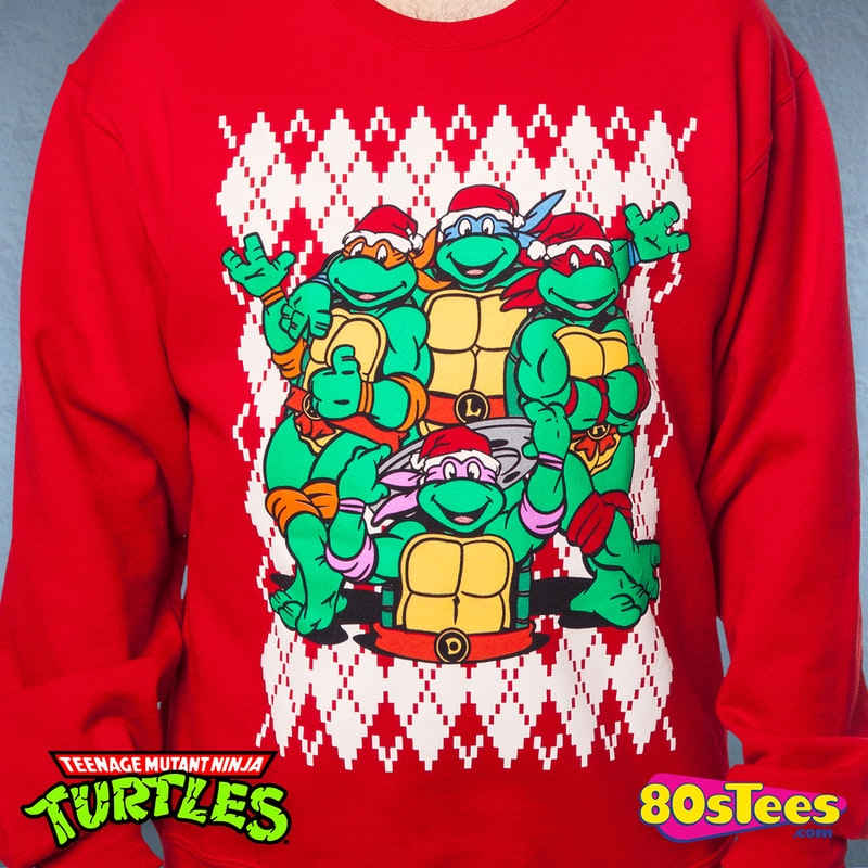 Teenage Mutant Ninja Turtles Faux Ugly Christmas Sweater