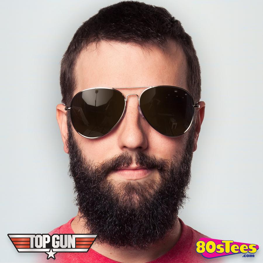 Miami Vice Police Aviator Sunglasses /& Moustache Set 80s 70s Cop