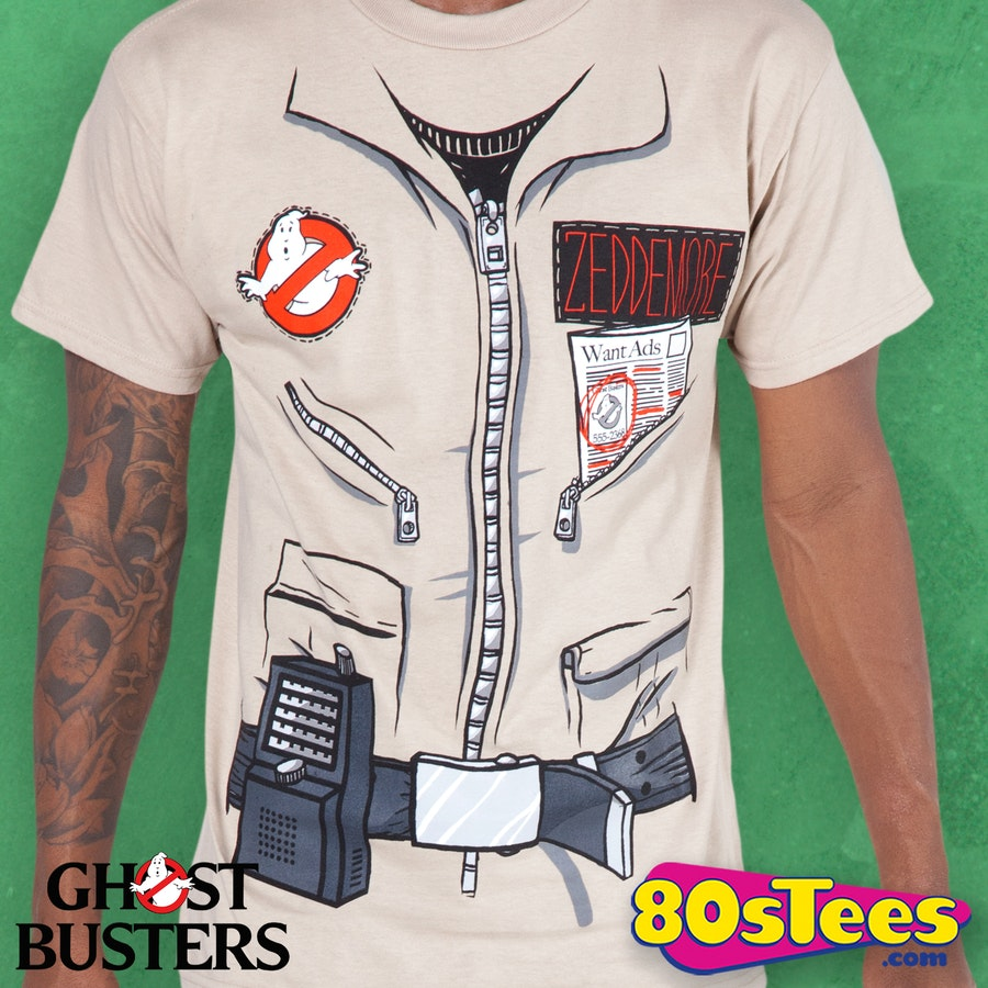 winston zeddemore ghostbusters shirt  ghostbusters mens t