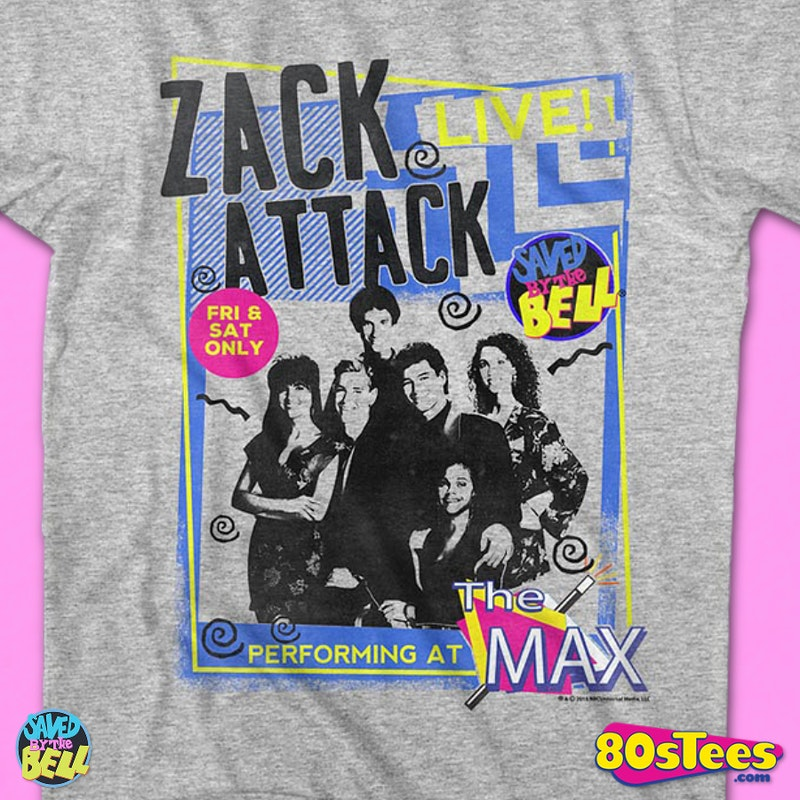 Zack Attack Live T-Shirt: Saved By The Bell Mens T-Shirt