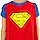 Ladies Superman Caped V-Neck Shirt
