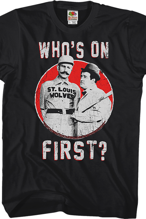 Who's On First Abbott And Costello T-Shirt