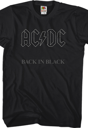 ACDC Back In Black Shirt