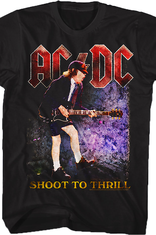 ce6e2d6e Shoot To Thrill ACDC T-Shirt: 80s Music ACDC T-shirt