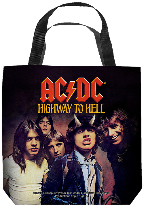 ACDC Highway To Hell Tote Bag