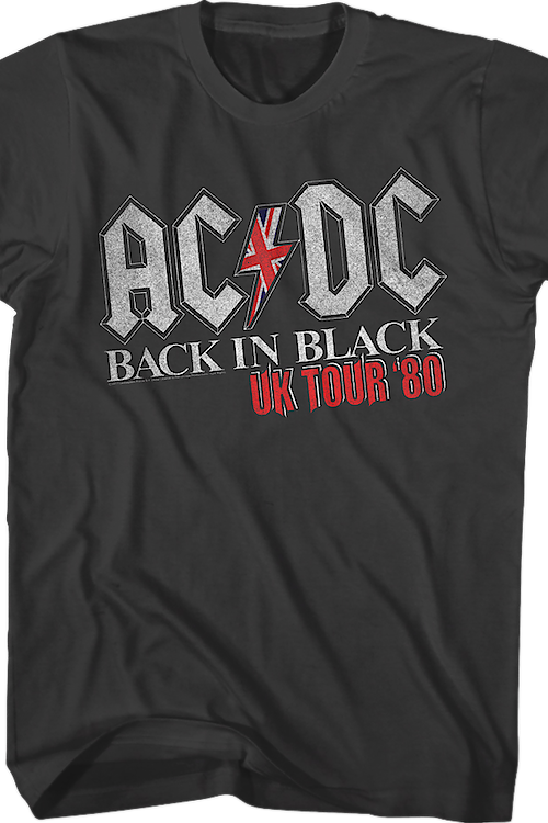 Back In Black UK Tour ACDC T-Shirt