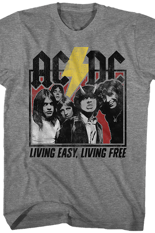 Living Easy Living Free ACDC T-Shirt