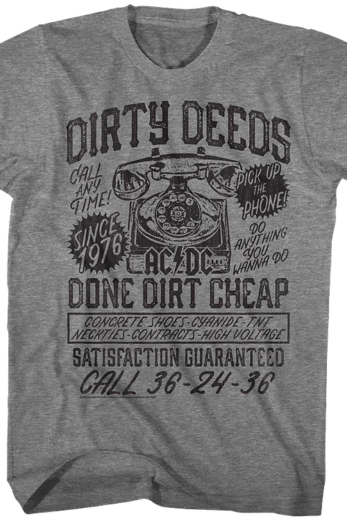 Dirty Deeds ACDC T-Shirt