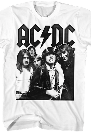 Black and White Highway To Hell ACDC T-Shirt