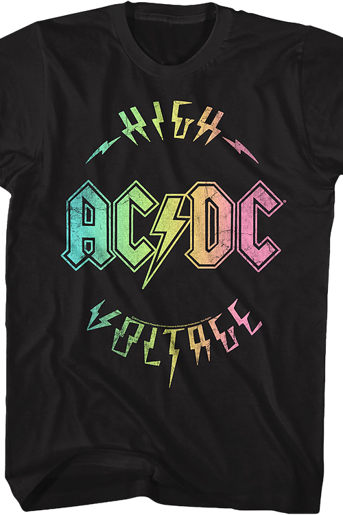 Rainbow High Voltage ACDC T-Shirt