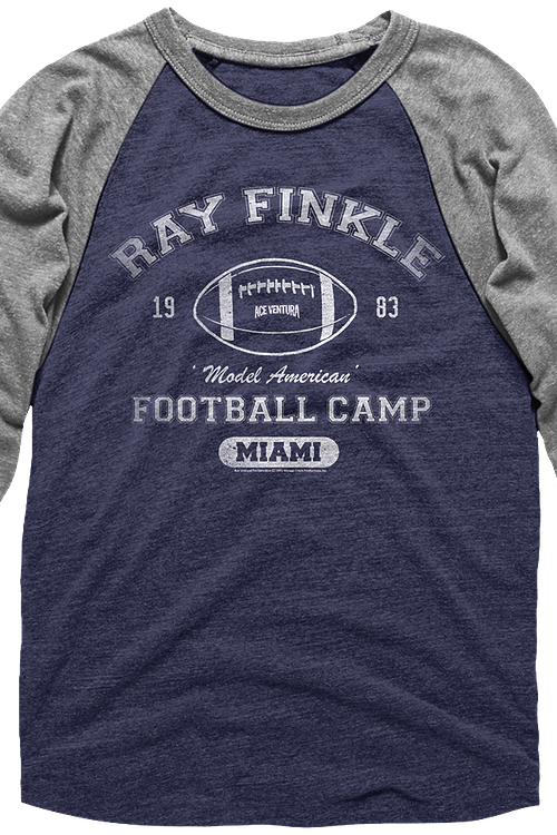Ray Finkle Football Camp Ace Ventura Raglan Baseball Shirt