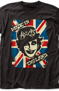 The Adicts Made In England Album T-Shirt