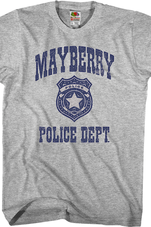 Mayberry Police Dept. Andy Griffith Show T-Shirt