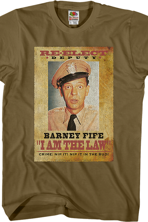 Re-Elect Deputy Barney Fife Andy Giffith Show T-Shirt