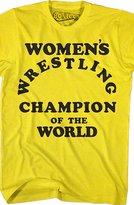 Women's Wrestling Champion T-Shirt