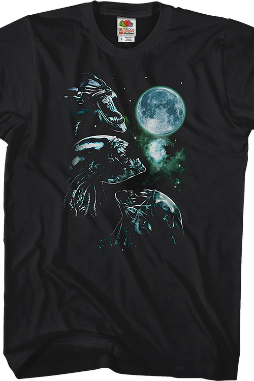 Three Xenomorph Moon Alien T-Shirt