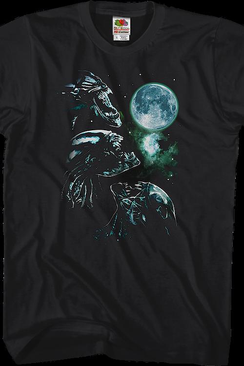 1ee0884b Three Xenomorph Moon Alien T-Shirt: Alien Mens T-Shirt