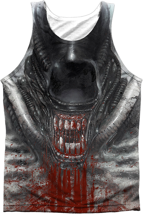 Bloody Jaw Alien Sublimation Tank Top