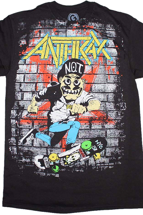 Retro Skater Guy Anthrax T-Shirt