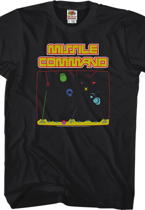 Missile Command Gameplay T-Shirt