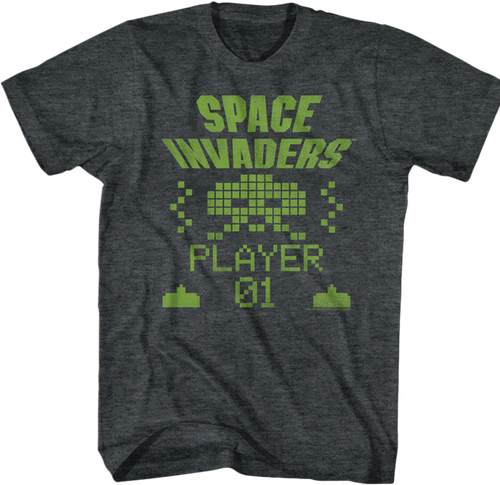 Player Space Invaders T Shirt Atari Mens T Shirt