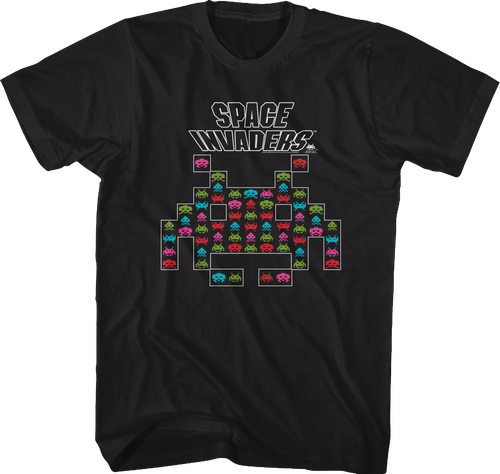 Alien Shape Space Invaders T Shirt