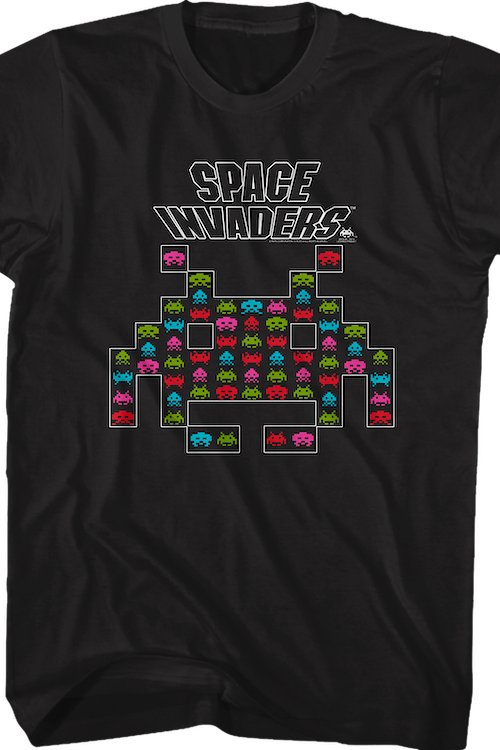 Alien Shape Space Invaders T-Shirt