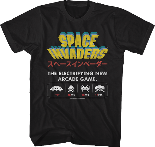 Electrifying New Arcade Game Space Invaders T Shirt