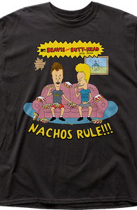 Nachos Rule Beavis and Butt-Head T-Shirt