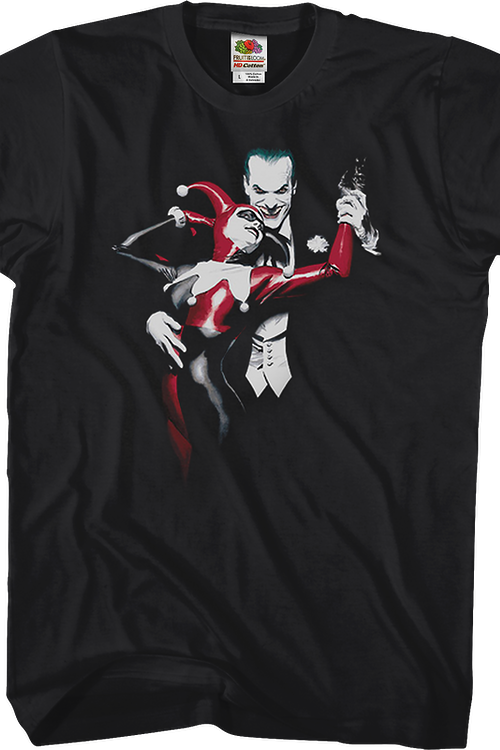 577bcb98 Alex Ross Joker and Harley Quinn T-Shirt: DC Comics Mens T-Shirt
