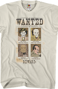 Wanted Villains Justice League T-Shirt