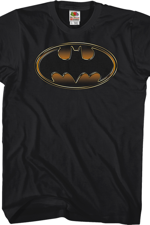 Gold and Black Logo Batman T-Shirt
