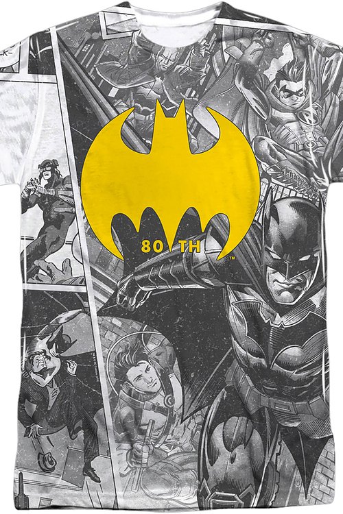 80th Anniversary Collage Batman T-Shirt