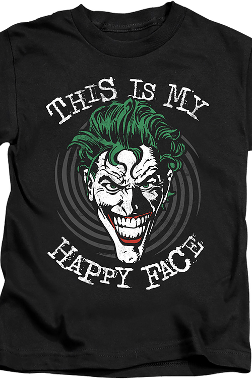 Youth Joker This Is My Happy Face DC Comics Shirt