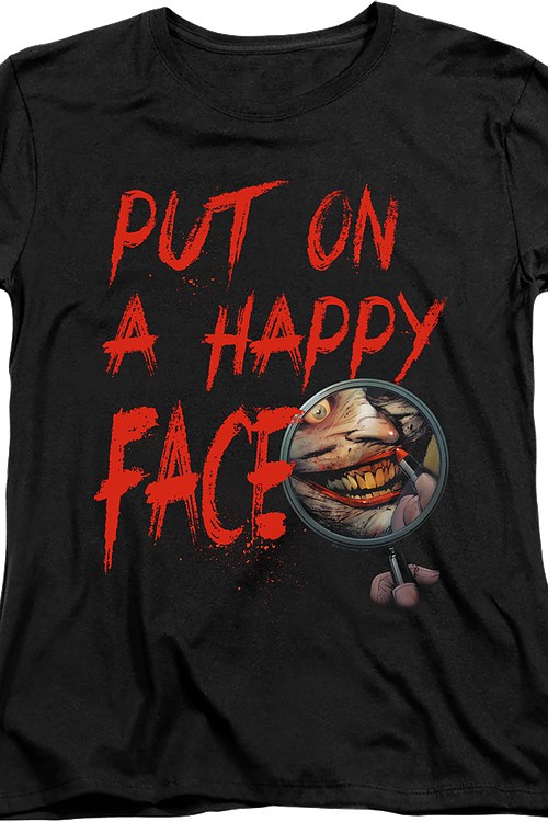 Womens The Joker Put On A Happy Face DC Comics Shirt