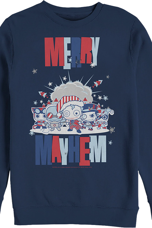 Merry Mayhem DC Comics Christmas Sweatshirt